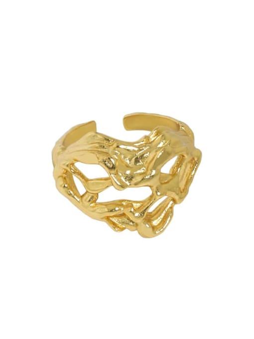 18K gold [14 adjustable] 925 Sterling Silver Heart Vintage Band Ring